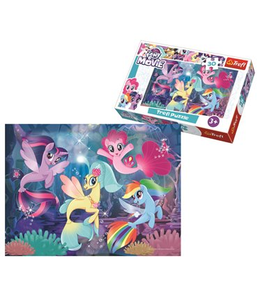 Trefl, My Little Pony Film, Puzzle Zabawa syrenek, 30 el.