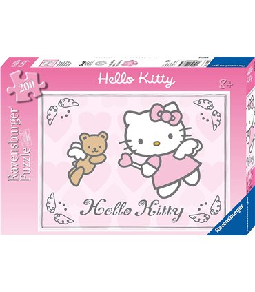 Puzzle XXL Hello Kitty fruwa - Ravensburger, 200 el.
